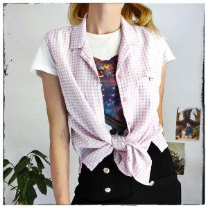 [ TOΠ ] Pink Plaid Top [ XLarge /XXLarge ]    Ροζ Τοπ
