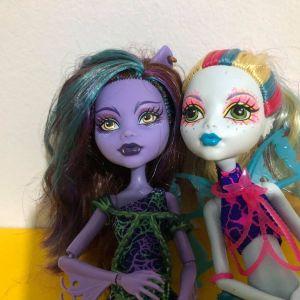 Monster High Clawdeen Wolf Mermaid Doll & Ghoulfish Lagoona Doll SET