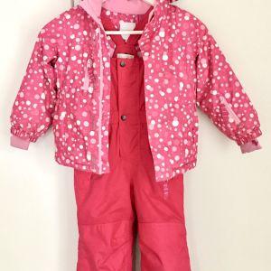 Παιδική στολή Σκι για κορίτσι (98cm) - Σετ Σαλοπέτα και Μπουφάν