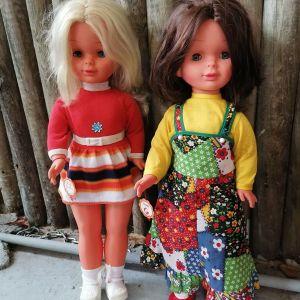 Δύο μεγάλες συλλεκτικές ολοκαίνουριες Γερμανικές κούκλες δεκαετίας 1970