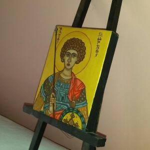 Βυζαντινή χειροποίητη εικόνα Άγιος Γεώργιος