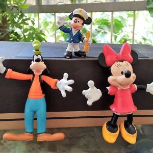 3 vintage φιγούρες Μίκυ μάους: Μίκυ, Μίνι και Γκούφυ