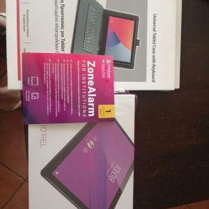 Tablet Lenovo M10 RELαχρησιμοποιητο + Θήκη πληκτρολόγιο Shield+Antivirus Zone Alarm