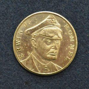 Ασημένιο συλλεκτικό νόμισμα με το πρόσωπο του Έρβιν Γιόχαν Ευγένιος Ρόμμελ (Johannes Erwin Eugen Rommel) ενός από τους ικανότερους Γερμανούς στρατηγούς του Β΄ΠΠ
