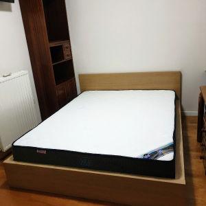 Κρεβάτι διπλό IKEA MALM και στρώμα ECO SLEEP CHICAGO 160×200, καινούρια όλα.