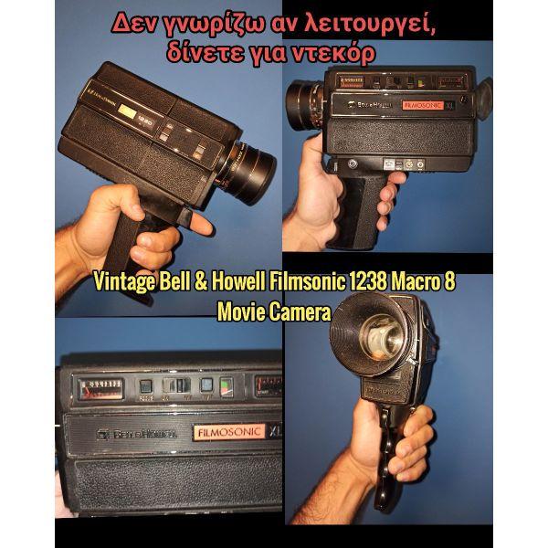 Vintage Bell & Howell Filmsonic 1238 Macro 8 Movie Camera 1977 Rare diavaste perigrafi