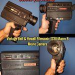 Vintage Bell & Howell Filmsonic 1238 Macro 8 Movie Camera 1977 Rare Διαβάστε περιγραφή