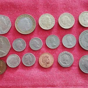 Νομίσματα Αγγλίας.