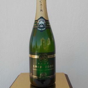 Συλλεκτικό Μπουκάλι από Σαμπάνια CAIR για τα 100 Χρόνια της Ομάδας του Παναθηναϊκού, 1908-2008, (για Διακόσμηση Χώρου).