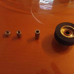 akai 15 ips kit adapter (pinch roller + adapter),original,viber,για akai gx-365d και για αλλα μπομπινοφωνα της akai