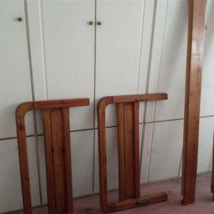 Κρεββάτι σουηδικό ξύλινο μασίφ για στρώμα 90 cm