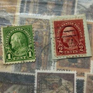 Benjamin Franklin 1C / George washington 2C - Γραμματόσημα ΗΠΑ