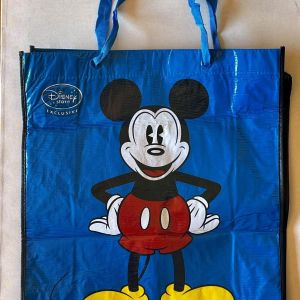 Συλλεκτική Αυθεντική μεγάλη Τσάντα MICKEY MOUSE από DISNEYLAND πολλαπλών χρήσεων. ΚΑΙΝΟΥΡΙΑ / ΑΧΡΗΣΙΜΟΠΟΙΗΤΗ. Διαστάσεις 48 x 43 εκατοστά.