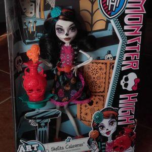 Monster high Skelita Calaveras Art Class κούκλα