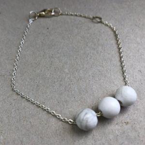 white lava bracelet  λευκή λάβα βραχιόλι