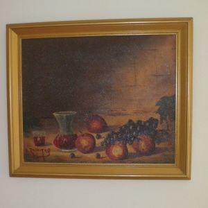 Πίνακας ζωγραφικής με φρούτα.
