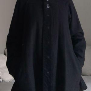 Μαύρο ημίπαλτο Snob