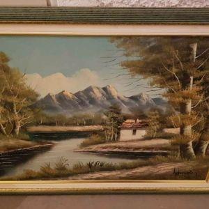 Πίνακας ζωγραφικής με την υπογραφή του καλλιτεχνη.
