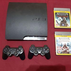 Sony playstation 3 ( PS3 ) Slim 160 GB + 2 Παιχνιδια + 2 Χειριστηρια