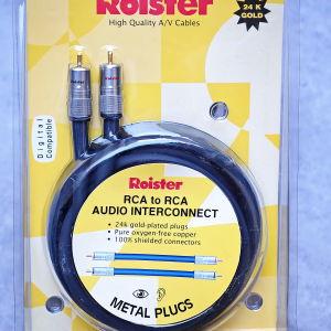 Καλώδια RCA Roister 200cm καινούργια