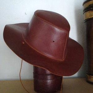 Γνήσιο Δέρμα Χειροποίητο Καπέλο Western Cowboy