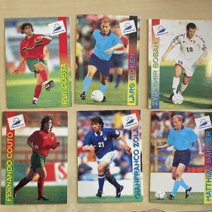 Panini συλλεκτικές κάρτες παγκοσμίου κυπέλλου 1998