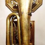 Συλλεκτική Τούμπα Μπάσσο δεκ. 1930-1940;, με κύλινδρους, ρωσσική ΙΙ Δ No 188 / 4200 P, Tuba Bb, μουσικό χάλκινο πνευστό όργανο, διακόσμηση ρετρό αντίκα σπάνιο φιλαρμονική τρομπέτα τρομπόνι ντεκόρ