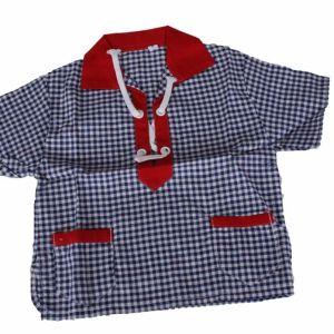 Vintage καρό πουκάμισο για μωρά 1960s