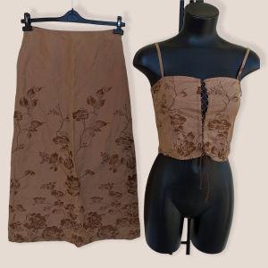 Σετ τοπ και φούστα Luisa Cerano