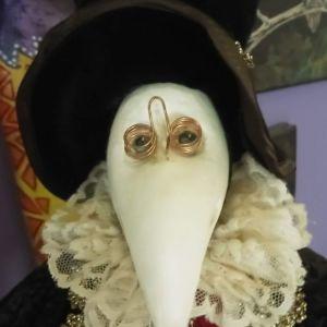 Παραδοσιακή Βενετσιάνικη Χειροποίητη Μαριονέτα Γιατρός την εποχή της πανούκλας.