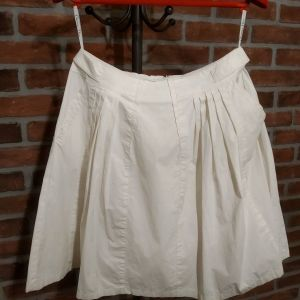 "DIOR λευκή φούστα σε γραμμή ""Α"" μέχρι το γόνατο, Medium"