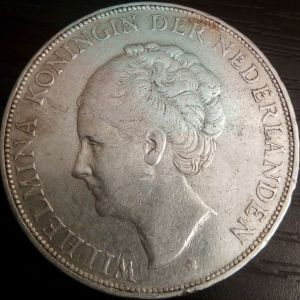 Nederlanden 2 1/2G 1929 Μεγαλο Ασημενιο