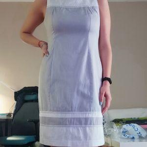 Βαμβακερό Φόρεμα Γκρι Λευκό - 40/L