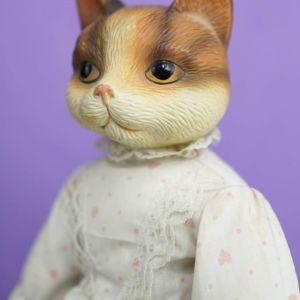 Παλιά κούκλα-γατούλα από Αγγλία (1960)