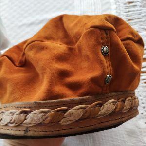 Καπέλο suede δέρμα