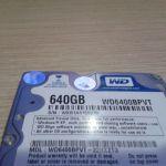 Σκληρος δισκος western digital 640gb