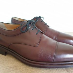 A.TESTONI Leather Cap Toe Derby Lace Up Made in Italy Size 46 Ανδρικα Παπουτσια