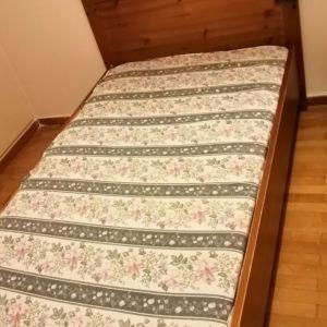 Κρεβάτι μονό με στρώμα