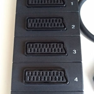 scart διακλαδωτης 5 σε 1