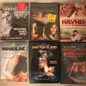 πωλούνται ταινίες DVD (Green Zone, Da Vinci Code, Heaven, Roskilde, Shuttered Island, Escape from Death Now)