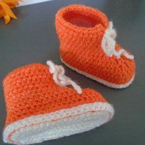 βρεφικα παπουτσακια αγκαλιας bebe πορτοκαλι μποτακια