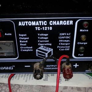 φορτιστής μπαταριών 12v 6v επαγγελματικος αυτόματος battery charger