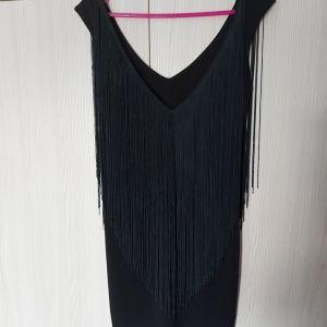 Φόρεμα μίνι  ON LINE με κρόσσια