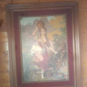 Κεντημένος πίνακας με καδρο