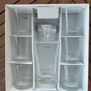 Σετ ουίσκι Slovglass 6 ποτήρια με καράφα