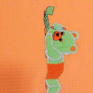 κουβέρτακι πικε αρκουδάκι πορτοκαλι