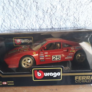 Ferrari Gto Rally (1986) Μεταλλικό Συλλεκτικό Αυτοκίνητο 1:18 κλίμακας