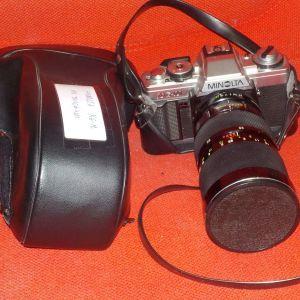 Φωτογραφική MINOLTA XG-M ,με τηλεφακό SOLIGOR MACRO Φ72 AUTO ZOOM 35-140MM.