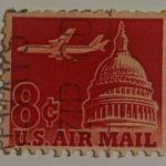 Αμερικάνικο γραμματόσημο του 1962 / Καπιτώλιο /αεροσκάφος