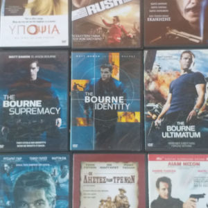 9 DVD όλα μαζί 5 ευρώ